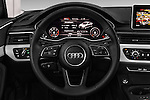 Car pictures of steering wheel view of a 2017 Audi A4 Sport 4 Door Sedan Steering Wheel