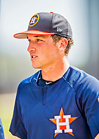 1 March 2017: Houston Astros infielder Alex Bregman awaits his turn in the batting cage prior to Spring Training action against the Miami Marlins at the Ballpark of the Palm Beaches in West Palm Beach, Florida. The Marlins defeated the Astros 9-5 in Grapefruit League play. Mandatory Credit: Ed Wolfstein Photo *** RAW (NEF) Image File Available ***