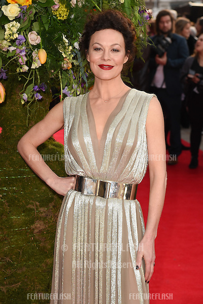 """Helen McRory arrives for the premiere of """"A Little Chaos"""" at the Odeon Kensington, London. 13/04/2015 Picture by: Steve Vas / Featureflash"""