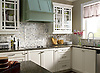 This custom kitchen features a handmade Basketweave mosaic backsplash shown in Calacatta Tia Baroque and tumbled Montevideo from New Ravenna.<br /> <br /> For pricing samples and design help, click here: http://www.newravenna.com/showrooms/