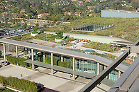 Palomar Pomerado Health, Escondido, CA. Four acre facility, including a 1.4 acre green roof, sits on the new Palomar Medical Center West Campus. Entire site acts as therapeutic garden, providing restorative qualities for hospital users and the landscape. Yu-Ju-Liu, RLA. Photography by Marshall Williams Photography, Inc.