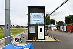 Welcome to Ossett United sign. Yorkshire v Parishes of Jersey, CONIFA Heritage Cup, Ingfield Stadium, Ossett. Yorkshire's first competitive game. The Yorkshire International Football Association was formed in 2017 and accepted by CONIFA in 2018. Their first competative fixture saw them host Parishes of Jersey in the Heritage Cup at Ingfield stadium in Ossett. Yorkshire won 1-0 with a 93 minute goal in front of 521 people. Photo by Paul Thompson