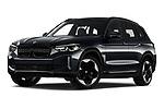 Low aggressive front three quarter view of a 2021 BMW iX3 Impressive 5 Door SUV