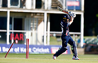 Ollie Robertson of Kent is bowled by Josh Shaw during Kent Spitfires vs Gloucestershire, Vitality Blast T20 Cricket at The Spitfire Ground on 13th June 2021
