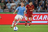26th September 2021;  Stadio Olimpico, Rome, Italy; Italian Serie A football, SS Lazio versus AS Roma; Adam Marusic of SS Lazio