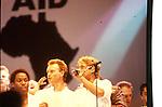 Live Aid 1985 Wembley Stadium, London , England. Sting, Roger Daltrey