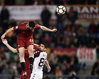 Calcio, Serie A: AS Roma - Torino Roma, stadio Olimpico, 9 marzo, 2018.<br /> Roma's Kostas Manolas scores during the Italian Serie A football match between AS Roma and Torino at Rome's Olympic stadium, 9 marzo, 2018.<br /> UPDATE IMAGES PRESS/Isabella Bonotto