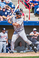 16 March 2014: Detroit Tigers infielder Eugenio Suarez in action during a Spring Training Game against the Washington Nationals at Space Coast Stadium in Viera, Florida. The Tigers edged out the Nationals 2-1 in Grapefruit League play. Mandatory Credit: Ed Wolfstein Photo *** RAW (NEF) Image File Available ***