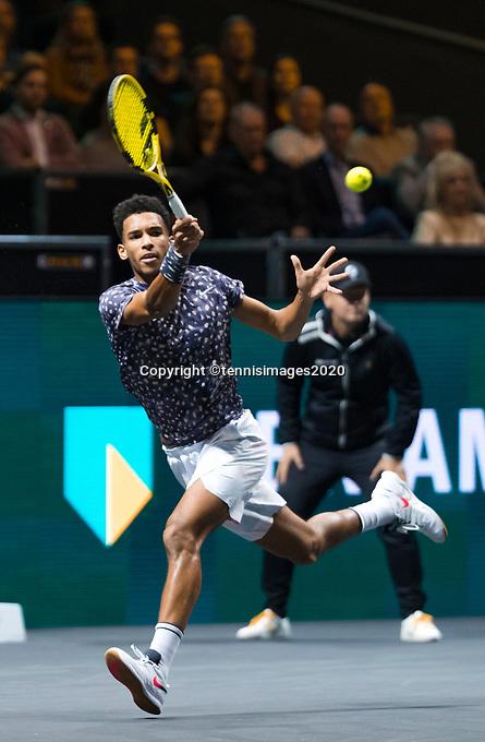 Rotterdam, The Netherlands, 15 Februari 2020, ABNAMRO World Tennis Tournament, Ahoy,<br /> Mens Single Final: Felix Auger-Aliassime (CAN).<br /> Photo: www.tennisimages.com