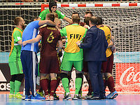 MEDELLIN-COLOMBIA, 27-09-2016. La selección de Rusia venció 4 goles por 3 a la selección de Irán durante el mundial de Futsal Fifa World Cup  y es primer finalista del campeonato encuentro disputado en el Coliseo Iván de Bedout. / Action game between Rusia and Iran during  match for the Futsal World Cup 2016 played and Ivan de Bedout coliseum.Photo:VizzorImage / León Monsalve / Contribuidor