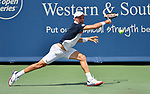 Roberto Bautista Agut (ESP) plays against Richard Gasquet (FRA) at the Western & Southern Open being played on August  16, 2019 at Lindner Family Tennis Center in Mason, Ohio.  ©Leslie Billman/Tennisclix