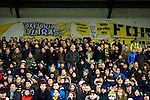 Oxford United 1 Accrington Stanley 2, 20/02/2016. Kassam Stadium, League Two. Oxford's home ground is the Kassam Stadium in Oxford and has a capacity of 12,500. United moved to the stadium in 2001 after leaving the Manor Ground, their home for 76 years. Oxford support in the East Stand. Photo by Simon Gill.