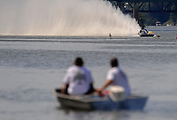 Jul. 19, 2009; Augusta, GA, USA; IHBA top alcohol hydro driver Kent Price races in the semi finals during the Augusta Southern Nationals on the Savannah River. Mandatory Credit: Mark J. Rebilas-