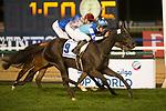 DUBAI,UNITED ARAB EMIRATES-MARCH 25: Vivlos,ridden by Joao Moreira,wins the Dubai Turf at Meydan Racecourse on March 25,2017 in Dubai,United Arab Emirates (Photo by Kaz Ishida/Eclipse Sportswire/Getty Images)