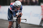Vincenzo Nibali (ITA) Trek-Segafredo in action during Stage 4 of the 78th edition of Paris-Nice 2020, and individual time trial running 15.1km around Saint-Amand-Montrond, France. 11th March 2020.<br /> Picture: ASO/Fabien Boukla | Cyclefile<br /> All photos usage must carry mandatory copyright credit (© Cyclefile | ASO/Fabien Boukla)