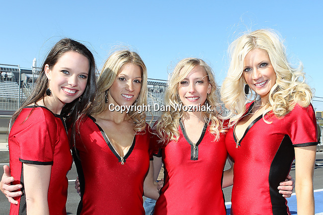 Continental tire race girls in action during the Continental Tire Challenge race at the Circuit of the Americas race track in Austin,Texas...