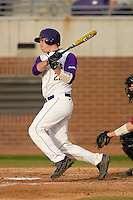 Jared Avchen #22 of the East Carolina Pirates follows through on his swing versus the Elon Phoenix at Clark-LeClair Stadium March 29, 2009 in Greenville, North Carolina. (Photo by Brian Westerholt / Four Seam Images)