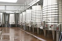 Fermentation tanks. Chateau Nenin, Pomerol, Bordeaux, France
