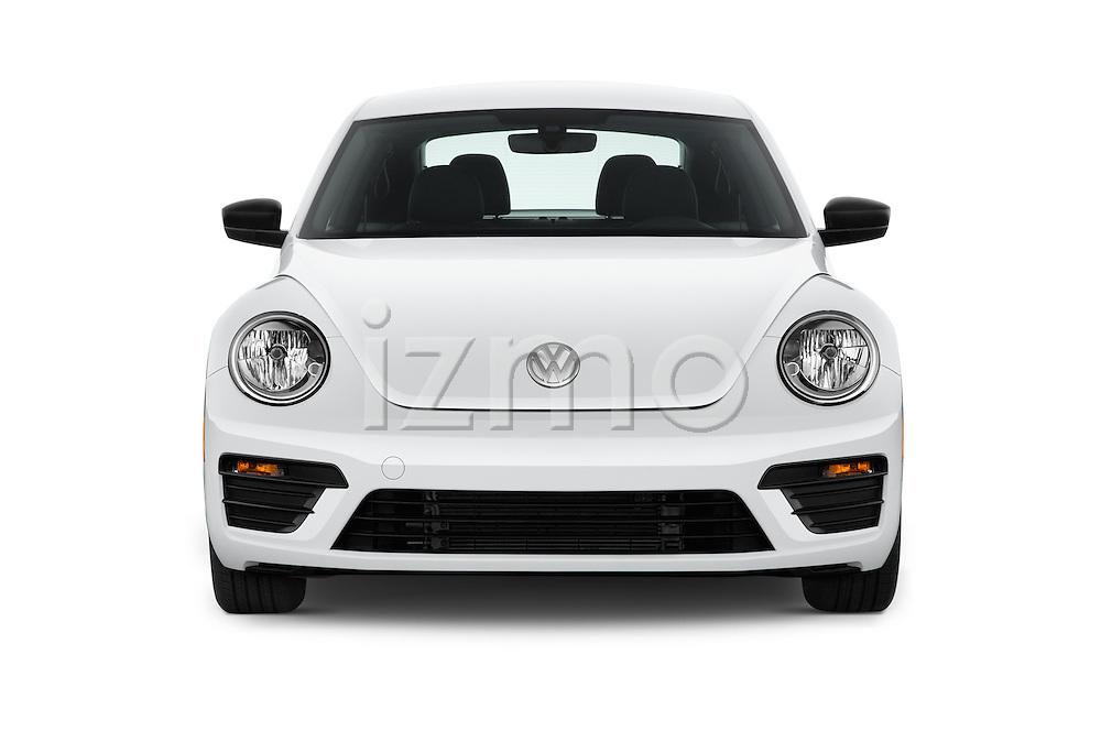 Car photography straight front view of a 2017 Volkswagen Beetle S 3 Door Hatchback Front View