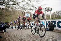 Daniel McLay (GBR/Arkéa Samsic) up the Kemmelberg<br /> <br /> 83rd Gent-Wevelgem - in Flanders Fields (ME - 1.UWT)<br /> 1 day race from Ieper to Wevelgem (BEL): 254km<br /> <br /> ©kramon