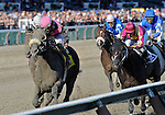 10 September 04: Here Comes Ben (no. 4), ridden by Alex Solis and trained by Charles Lopresti, wins the 31st running of the grade 1 Forego Stakes for three years old and upward at Saratoga Race Track in Saratoga Springs, New York.