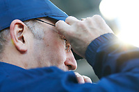 Middlesbrough manager Tony Pulis adjusts his glasses prior to kick off of the Sky Bet Championship match between Cardiff City and Middlesbrough at the Cardiff City Stadium. Cardiff, Wales, UK. Saturday 17 February 2018