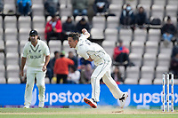 Trent Boult, New Zealand follows through during India vs New Zealand, ICC World Test Championship Final Cricket at The Hampshire Bowl on 22nd June 2021