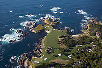 aerial photograph of Cypress Point Club, Pebble Beach, Monterey County, California