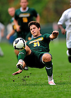 13 September 2009: University of Vermont Catamount midfielder/backfielder Sean Sweeney, a Freshman from Cromwell, CT, in action against the University of Massachusetts Minutemen during the second round of the 2009 Morgan Stanley Smith Barney Soccer Classic held at Centennial Field in Burlington, Vermont. The Catamounts and Minutemen battled to a 1-1 double-overtime tie. Mandatory Photo Credit: Ed Wolfstein Photo