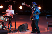 WILLIAM ANDERSON - PHAROAH SANDERS - PHARAOH SANDERS EN CONCERT AU FESTIVAL 'JAZZ A VIENNE'
