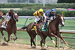 Jessica is Back with Garrett Gomez up leads the field past the stands for the first time in The Fleur De Lis Handicap (grII) at Churchill Downs. 06.12.2010