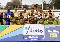 RIONEGRO-COLOMBIA, 01-03-2020: Jugadores de Rionegro Aguilas Doradas, posan para una foto, antes de partido de la fecha 7 entre Rionegro Aguilas Doradas y Envigado F.C., por la Liga BetPlay DIMAYOR I 2020, jugado en el estadio Alberto Giraldo de la ciudad de Rionegro. / Players of Rionegro Aguilas Doradas, pose for a photo, prior a match of the 7th date between Rionegro Aguilas Doradas and Envigado F.C., for the Liga BetPlay DIMAYOR I 2020, played at Alberto Giraldo stadium in Rionegro city. / Photo: VizzorImage / Juan Cardona / Cont.