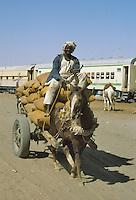 - northern Sudan, railroad terminal in Karima....- Sudan settentrionale, capolinea della ferrovia a Karima..