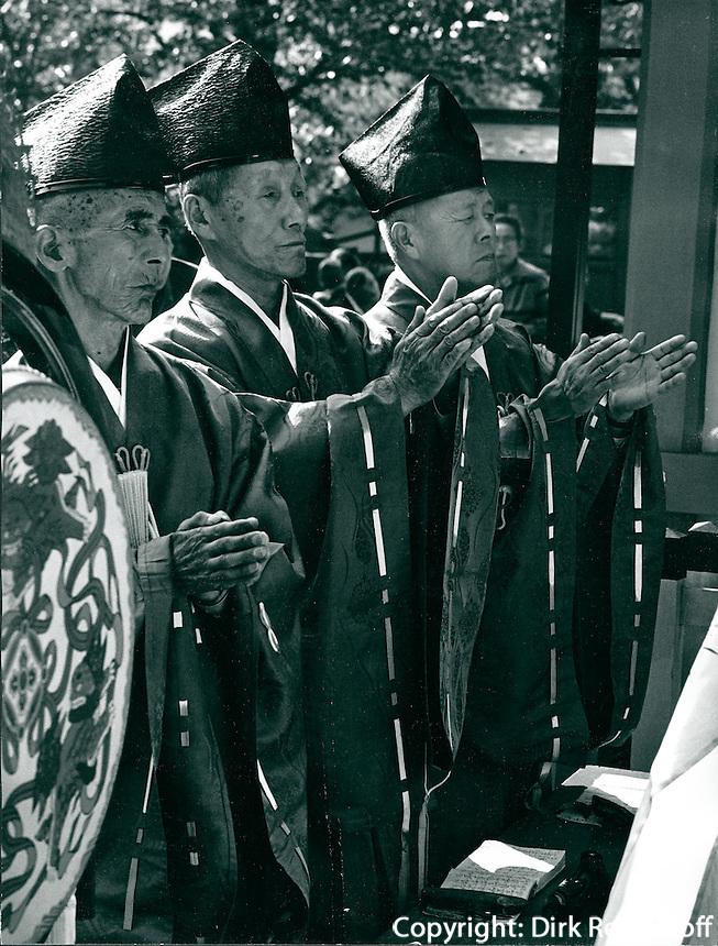 In shintoistischem Schrein, Japan