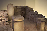 Israel, Jerusalem, Holy of Holies from a sanctuary in Tel Arad, 8th century BC, at the Israel Museum
