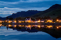 Small village of Dornie, Western Highlands,  Scotlands