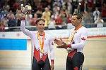 MILTON, ON, AUGUST 10, 2015. Cycling at the Velodrome. Canadians Nicole Clermont (C-5W), Marie Claude-Molnar (C-4W)Mike Sametz C-3M), Shawna Ryan & Joanie Caron (BW), Robbi Weldon & Audrey Lemieux (BW), and Gold medallists Daniel Chalifour & Alexandre Cloutier (BM).<br /> Photo: Dan Galbraith/Canadian Paralympic Committee