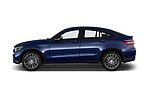 Car driver side profile view of a 2018 Mercedes Benz GLC Coupe GLC300 4WD 5 Door SUV