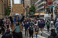NEW YORK, NEW YORK - JUNE 1: Protesters walk in the middle of the street on June 1, 2020 in New York. The protests spread across the country in at least 30 cities across the United States, over the death of unarmed black man George Floyd at the hands of a police officer, this is the latest death in a series of police deaths of black Americans. Today is the first night of a curfew in New York City (Photo by Pablo Monsalve / VIEWpress via Getty Images)
