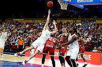 GRONINGEN - Basketbal , Open Dag met Donar - Antwerp Giants , voorbereiding seizoen 2021-2022, 05-09-2021,  snotpoging Donar speler Henry Caruso