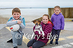 Enjoying a stroll on Ballyheigue beach on Saturday, l to r: Jack, Molly and Lily Lucid and Bailey the dog.
