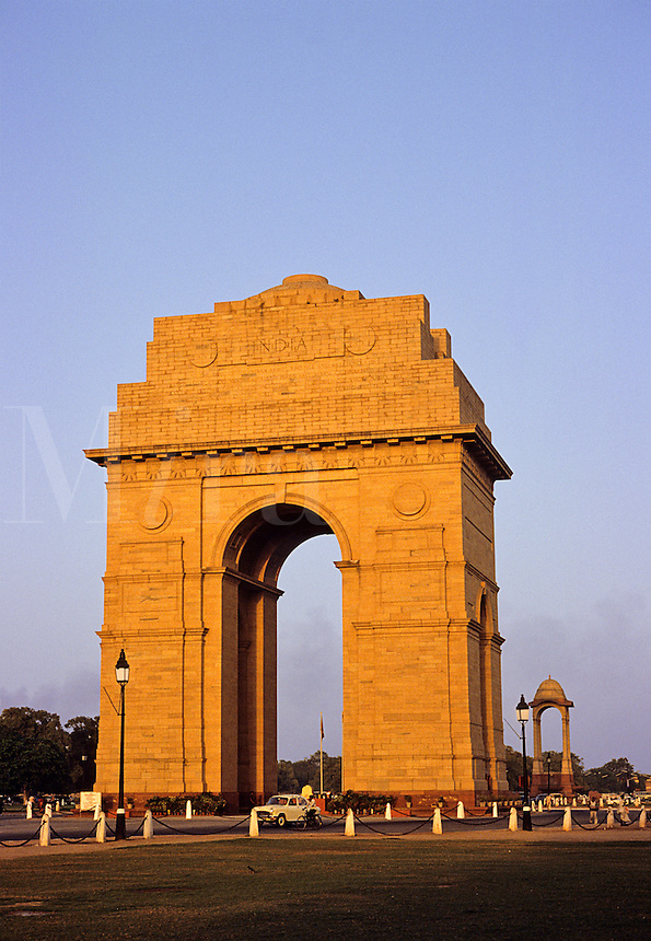 India Gate, New Delhi. India. War Memorial built at same time as Lutyens' new government complex in 1920's.