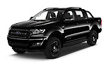 2018 Ford Ranger Limited-Black-Edition 4 Door Pick-up Angular Front automotive stock photos of front three quarter view