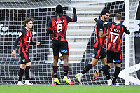 Dominic Solanke of AFC Bournemouth celebrates scoring the fourth goal with Jack Stacey of AFC Bournemouth during AFC Bournemouth vs Reading, Sky Bet EFL Championship Football at the Vitality Stadium on 21st November 2020