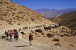 Start of the Saribung expedition above the Kali Gandaki river, Nepal, 2008