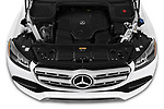 Car Stock 2020 Mercedes Benz GLS GLS450 5 Door SUV Engine  high angle detail view