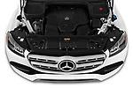Car Stock 2020 Mercedes Benz GLS GLS450 5 Door SUV Engine  high angle detail view