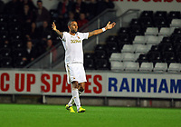 Pictured: Kyle Bartley of Swansea. Tuesday 28 August 2012<br /> Re: Capital One Cup game, Swansea City FC v Barnsley at the Liberty Stadium, south Wales.