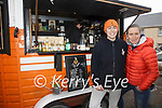 The O'Driscoll sisters from Cahersiveen are doing it for themselves with their converted horsebox into the very popular 'Fox in the Box' Coffees & Snacks, pictured here l-r; Eirn & Kacey O'Driscoll.