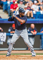 5 March 2016: Detroit Tigers outfielder John Mayberry Jr. in action during a Spring Training pre-season game against the Washington Nationals at Space Coast Stadium in Viera, Florida. The Tigers fell to the Nationals 8-4 in Grapefruit League play. Mandatory Credit: Ed Wolfstein Photo *** RAW (NEF) Image File Available ***
